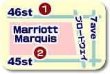 集合場所マリオットマーキースホテル